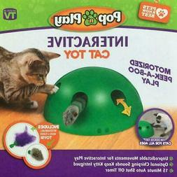 Automatic Pop N' Play Interactive Motion Cat Toy Mouse Tease