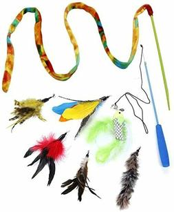 BABY Cat Toys Kitten Toys Assortments feather and bell cat t