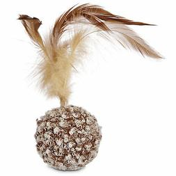 Leaps & Bounds Ball with Feather Cat Toy, One Size Fits All,