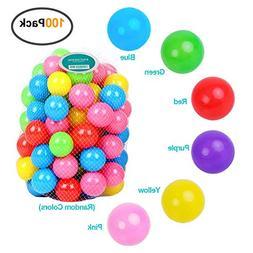 Encheng Pack of 100 Ball Pit Balls Crush Proof Plastic Ball,