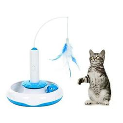 Electric Rotate Best Interactive Cat Feather Toys Teaser Mot