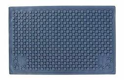 Purr-Fect Paws Cat Litter Mat, Medium, Blue