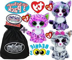 "TY Beanie Boos ""Cats"" Sophie, Lindi & Kiki Gift Set Bundle w"