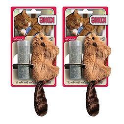 KONG Beaver Refillable Catnip Toy , 2 Pack