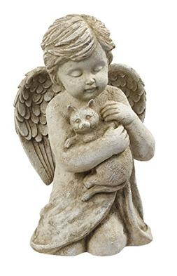 Beloved Cherub Angel Holding a Cat Pet Memorial Bereavement