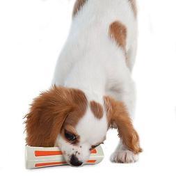 PETSTAGES BEYOND THE BONE DOG TOY MEDIUM PUPPY BONE BLEND. F