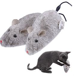 Yunt Big Motor Plush Mouse Mice Rat Toy for Cat Kitten Play