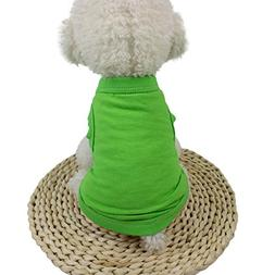 WEUIE Big Promotion! Puppy Clothes Cute Pet Dog Cat Solid Co