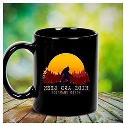 Bigfoot tshirt adventurer camping Sasquatch sunset - Hide an