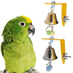 GMSP Parrot Cage Hanging Bell, Colorful Squeaky Sound Parake