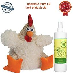 Puppy Chew Spray for Dogs 16oz with Dog Chew Toy Fat Rooster
