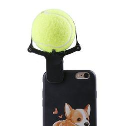 2 Pack Black Pet Selfie Stick with Green Tennis Ball Multi-f