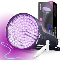 Blacklight Flashlight UV 100 LED - Black Light for Urine Det