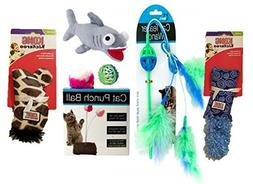 Blue & Green Cat Toy Bundle |  Cat Starter Kit Includes Toys