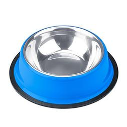 Weebo Pets Blue No-Tip No-Slip Stainless Steel Bowl