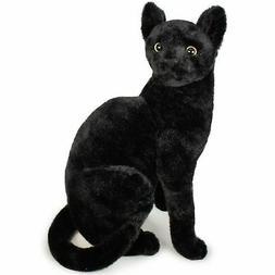 Boone the Black Cat   14 Inch Stuffed Animal Plush   by Tige