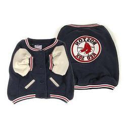 Sporty K9 MLB Boston Red Sox Varsity Dog Jacket, XX-Small