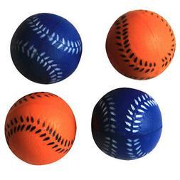 Iconic Pet Bouncing Sponge Softball, Blue/Orange, 4-Pack