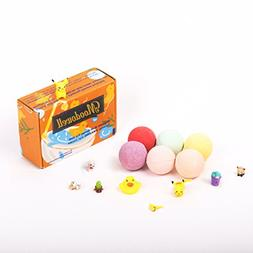 Shower Bubble Bath Bombs for Kids with 6 Surprise Toys Insid