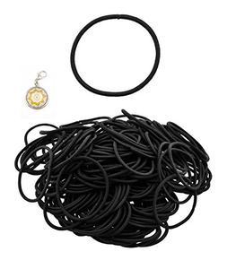 Mandala Crafts Bulk Metal Free Elastic Bands Hair Ties Ponyt
