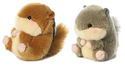 "Bundle of 2 Aurora 5"" Beanbag Stuffed Animals - Romper Chipm"