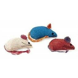 burlap mice cat toys assorted