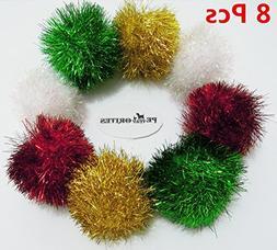 PetFavorites™ Bushy Sparkle Ball Cat Toy, Interactive Glit