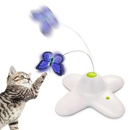 Zenes Butterfly Cat Toy - Electric Flutter Rotating Butterfl