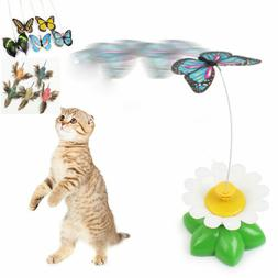 Kids Baby Pet Cat Kitten Electric Rotating Butterfly Rod Cat