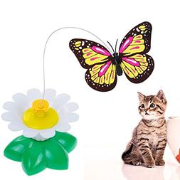 Lictin Butterfly Toy For Pet Cats, Funny Rotating Electric F