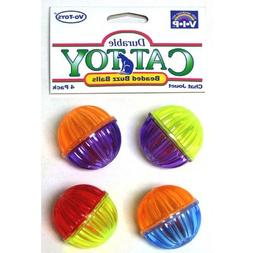 4 Pack Buzzing Ball Cat Toy - 3 Pack