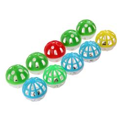BW#A 10pcs Plastic Hollow Out Round Pet Cat Colorful Ball To