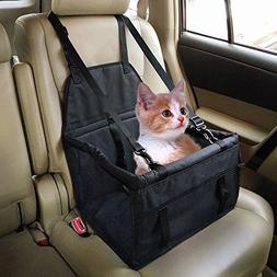 Henweit Car Booster Seat for Dog Cat - Car Travel Safety Sea