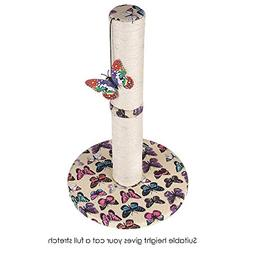 Carpet Scratching Post for Cat with Hanging Butterfly Toy fo