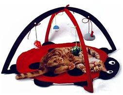 Petty Love House Cat Activity Center with Hanging Toy Balls,