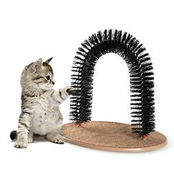 AikoPets Cat Arch Self Groomer Massager Groom Toy Dog Brushe