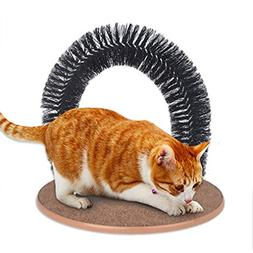 GLQ Cat Arch Self Groomer Massager,Plastic Bristles Arch Cat
