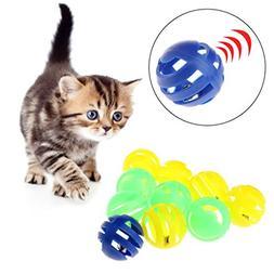 Yangxiyan 10pcs/lot Cat Ball Toys With Small Bell 3.5cm
