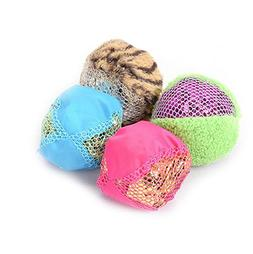 Stock Show 4Pcs Cat Balls Toys Mylar Crinkle Filled Lightwei