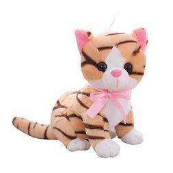 IKASA Cat Bashful Cat Stuffed Animal Plush Toys Gift for Kid
