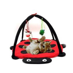 Cat Bed Pet Toys Tree Furniture House Post Scratcher Play Co