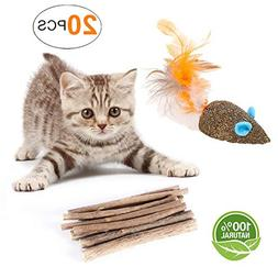 YOOPET Cat Catnip Sticks Natural Matatabi Silvervine Sticks