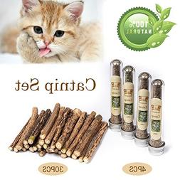MR-BABULA Cat Catnip Sticks Toys, 100% Natural Silver Vine/M