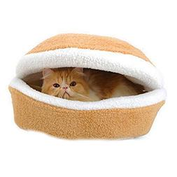 Cat Cave Bed Hamburger Type Sleeping Bag Pet Supplies Color