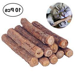 Aolvo Cat Chew Sticks, 10 PCS Natural Matatabi Chew Sticks T