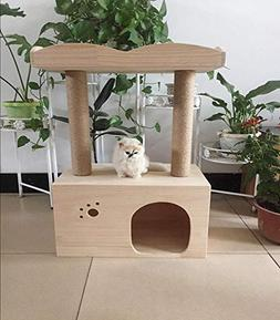 Ludage Cat Climbing Frame Solid Wood cat Litter cat Toys Pet