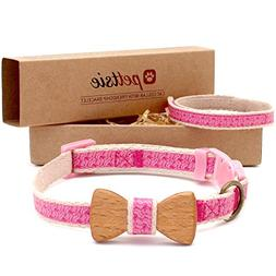 Pettsie Cat Collar Safety Breakaway with Bow Tie and Friends