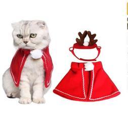 Cat Costumes Cloaks Mantle with Buckhorn Suit Set Clothes Fo