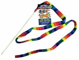 Cat Dancer Products charmer Rainbow toy,teaser stick kitten