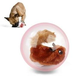 Cat Dog Toys Plush Jumping Automatic Squirrel Electric Ball